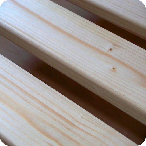 TUGA-Holztech 20mm Rollrost Lattenrost 80x200cm 200KG Qualitätsarbeit aus Deutschland unbehandelt frei von Chemie Naturprodukt