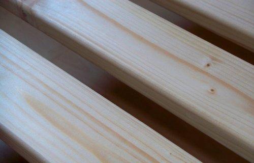 TUGA-Holztech 20mm Rollrost Rolllattenrost 100x200 cm Qualitätsarbeit aus Deutschland unbehandelt frei von Chemie Naturprodukt