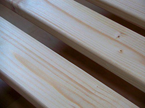 TUGA-Holztech 30mm Rollrost Rolllattenrost 90x200 cm Qualitätsarbeit aus Deutschland unbehandelt frei von Chemie Naturprodukt