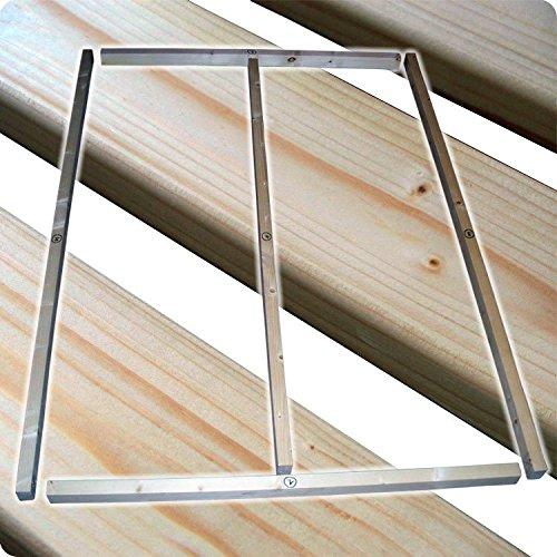 TUGA-Holztech stabiler unbehandelter Naturholz Lattenrost bis 300Kg Flächenlast für Bettgröße 90x200cm keine Kullen kein Durchhängen für Leicht - u. Schwergewichte