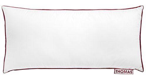 Thomas das Kissen hochwertiges Duo Kopfkissen für alle Schlaftypen, 100% Baumwolle, weiß