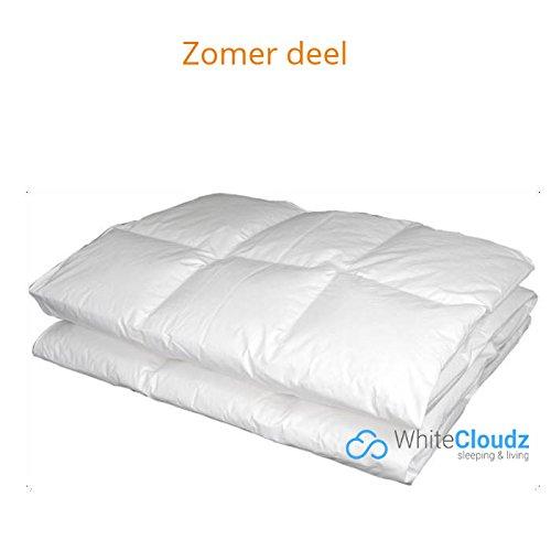 White Cloudz - Bettdecke GRAZ Sommerdecke - 90% Europäische Daunen, Klasse 1 - antiallergisch für Allergiker Steppbett / Steppbettdecke / Einziehdecke, waschbar 60° …