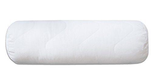 Zollner Nackenrolle Kissen, ca. 15x40 cm, Füllgewicht ca. 210 g mit Reißverschluss, weiß, Serie Davos