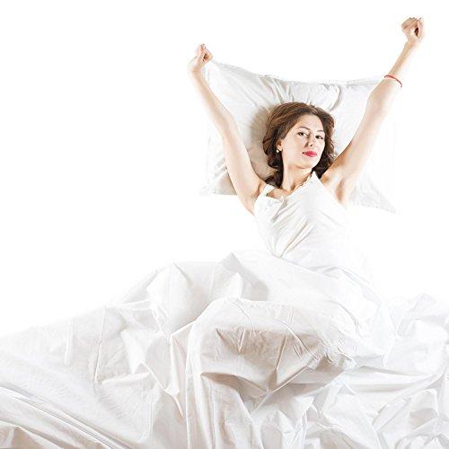 aqua-textil Noblesse Bettlaken Ohne Gummizug 100% Baumwolle Linon Leichte Sommer-Bettdecke