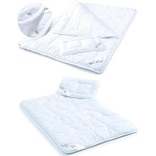 aqua-textil Soft Touch Kids Kinder Bettdecke Decke 4 Jahreszeiten Bettdecke Ganzjahresdecke Baby Kopfkissen