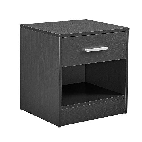 [en.casa]® Eleganter Nachttisch Nachtschrank Schublade Ablagefach