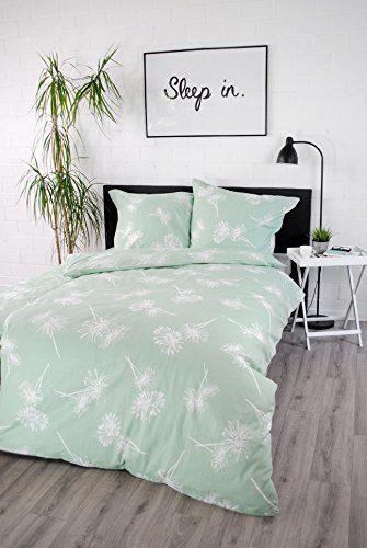 jilda-tex Bettwäsche 100% Baumwolle Design Daisy 135x200 cm mit Reißverschluss Bettbezug