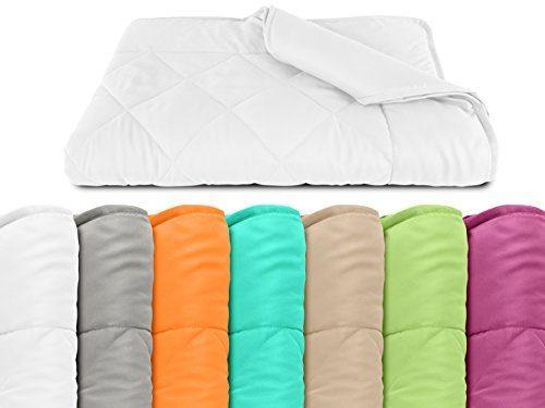 npluseins  Sommerdecke - Picknickdecke - Leichtbettdecke - in 2 Größen und in 7 modernen Farben