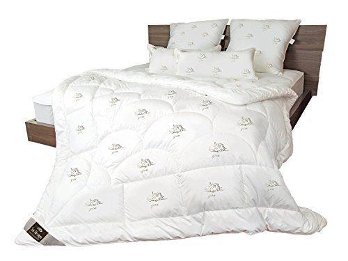 sei Design Mikrofaser LUXUS Bettdecke Premium Qualität mit daunenähnlicher Füllstruktur. Sehr leichte Decke mit extrem hoher Wärmehaltung.