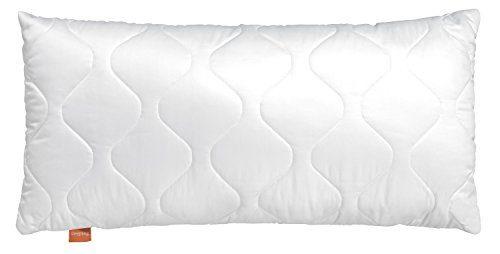 sleepling 190028-P Komfort 300 Kopfkissen Baumwolle Satin, Weiß