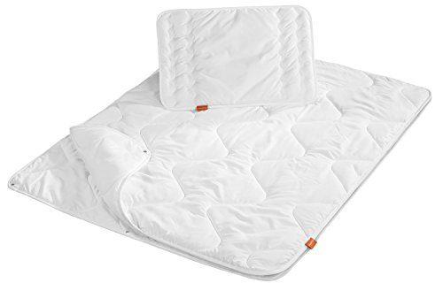 sleepling Kinderbetten Set 100 x 135 cm und Kopfkissen 40 x 60 cm, weiß