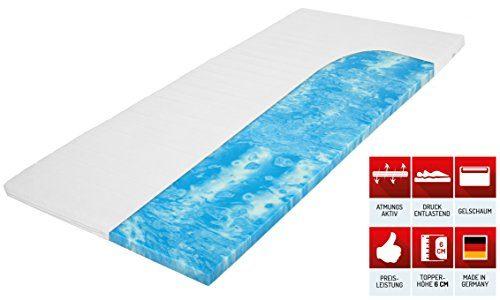 Matratzenheld Robin Gelschaumtopper für Matratzen Aller Art | Punktgenaue Druckentlastung | Optimale Orthopädische Körperanpassung | Bezug Waschbar Bei 60 °C | Kernhöhe 4 cm | 200x200 cm