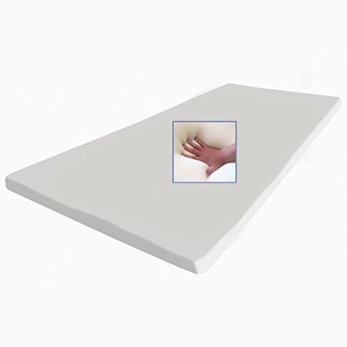 supply24 Gel/Gelschaum Matratzenauflage Topper 200 x 200 cm Höhe 5 cm Auflage für Matratze mit Abnehmbaren Baumwollbezug
