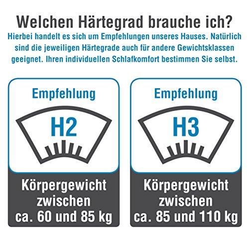 ARBD Topper, Matratzenauflage, Kaltschaum, 7cm - XL10cm - XL Wave 10cm - XXL Rave 12cm, Alle Größen - Schlafen Wie auf Wolken H2 + H3 … (H2-7cm, 180x200)