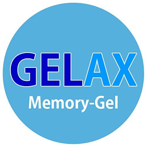 snoozo GELAX | Atmungsaktiver Gel-Schaum Topper Matratzenauflage | Ohne Bezug | RG 50 | 5 cm Gesamthöhe | Alle Zuschnitte und Größen möglich | Qualität Made in Germany (90 x 200 cm)