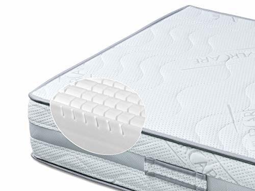 BMM Komfort RG50 7-Zonen Kaltschaummatratze 90x200 cm in Härtegrad H3 fest, Höhe 23cm, Matratze mit 3D-Würfelschnitt, waschbarer Bezug SilverCare mit Klima-Border, SchulterPLUS Zone, ÖKO-TEX® 100