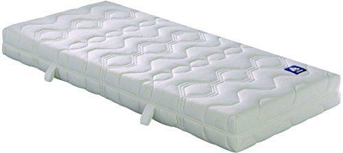 Badenia 03 888 360 159 Bettcomfort Matratze, Irisette Lotus Tonnentaschenfederkern H3, 90x200 cm, weiß
