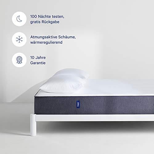 CASPER - Die Matratze Deines Lebens   Risikofrei 100 Nächte Probeschlafen   Hochwertige, bequeme Matratze mit konstant angenehm kühler Temperatur   Atmungsaktiv und in modernem Design   80x200 cm