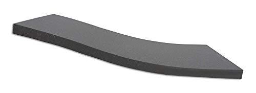 Dibapur ® Black: Orthopädische Kaltschaummatratze/Akustikschaumstoff - H2 - Auswahl: Ohne Bezug - Made in Germany (140x200x5 cm)