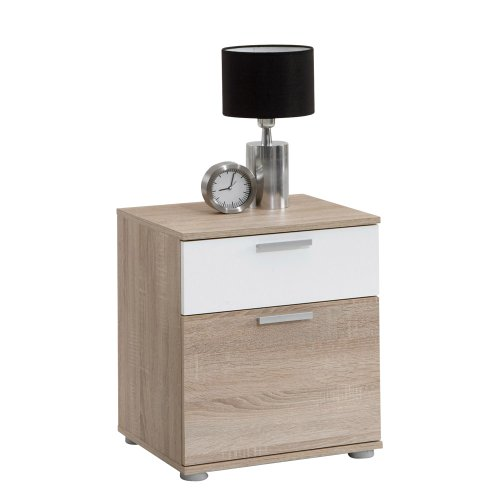 FMD Wohnwand Anbauwand Schrankwand Jack 3Nachttisch mit Schublade klein/groß Holz