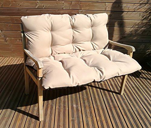 Gartenbankauflage Bankkissen Sitzkissen Polsterauflage Sitzpolster TP4 Beige 150x60x50 cm