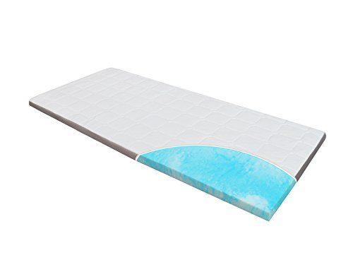 Gel-Schaum Topper-Matratze-Matratzenauflage Homedi, Ebi-A3-80-180.8 HR-Foam, Bezug Waschbar, 8 cm Hoch, Weiß