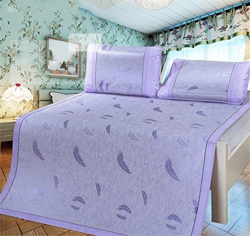 JQPQ Klimaanlage Matratze Sommer Kühlungsmatte für Bett Atmungsaktive Weiche Matratze,Purple1,Queen