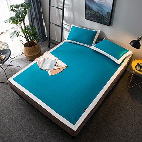 JQPQ Sommer-Kühlmatratze-Sätze für Bett-Maschinen-Waschbare schlafende Matratze Faltbar,Blue,Queen