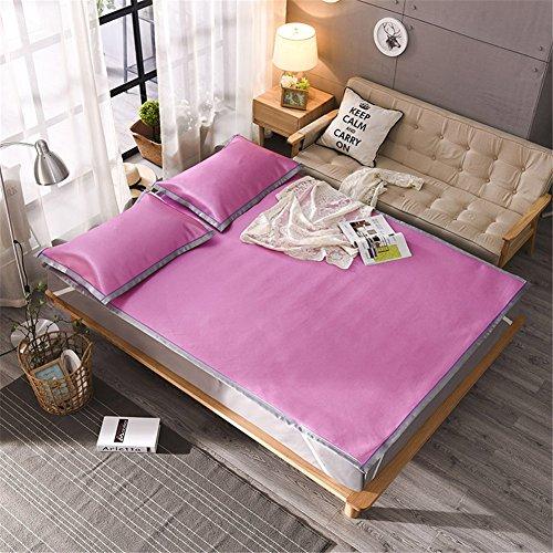 JQPQ Sommerkühlung Matratze Bett Toppers Klimaanlage Matratze Maschine Waschbar,Pink-Red,Queen