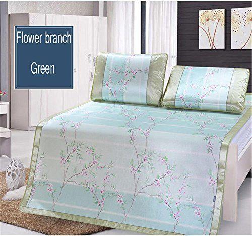 JQPQ Verdicken Sie Sommer-schlafende abkühlende Matratze-faltende Matte für Bett-Weiches Kühles Auflagen-Bett,Green,King