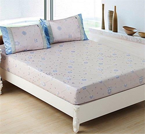 JQPQ Weiche Bett-Deckel-Schlafen-Matratze, die natürliche Verdickte Matten-Maschine Waschbar abkühlt,Blue,King