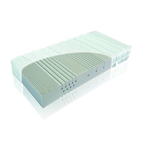 """Kaltschaummatratze """"Medisan Silber"""" extra hoch 27 cm verschiedene Härtegrade (H2, H3, H4) ideal auch für Boxspringbetten(100 x 200 cm, H3)"""