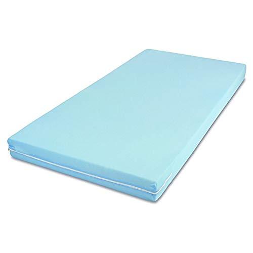 MSS Roll-Matratze, Easy Active, 90 x 200 x 11 cm, H3, Bezug Blau, Schaumstoff