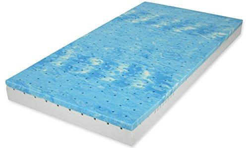 Matratzenheld Herkules 3D-Gelschaummatratze 90x200 cm H2 | Höhe 18 cm | Matratze aus Gelax Gelschaum und hochwertigem Kaltschaum | Für Allergiker und Hygienebewusste | 7 Zonen Matratze | Made in Germany