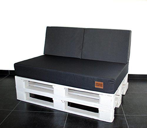 Mayaadi Home Palettenauflage Passend für Europalletten Palettenpolster Paletten-Sitzsofa für Drinnen und Draußen MH-GD03 (60x40x10/20 cm Schaumstoff, Dunkelgrau)