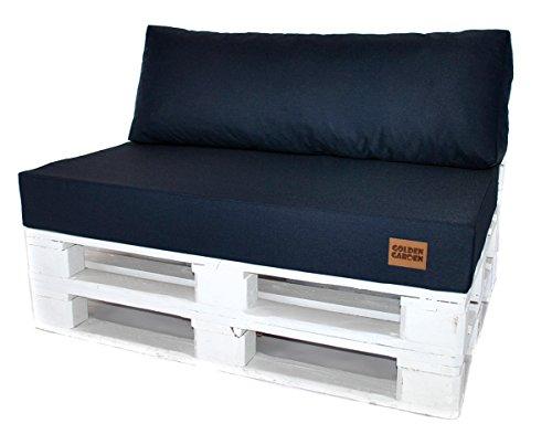 Mayaadi Home Sitzkissen Palettenkissen Palettenpolster Palettenauflage Indoor Outdoor MH-GD07 Jeans Dunkelblau 120x80x15cm