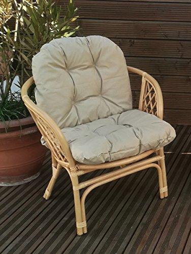 Mayaadi Home Sitzpolster Polsterauflage Niederlehner Bankauflage Stuhlauflage Sitzkissen Marcos 57x50x50x12cm JCG03 Beige