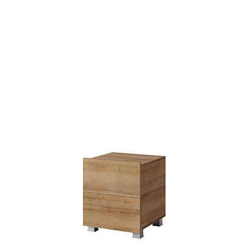 Mirjan24  Nachttisch Calabrini BR06 mit 2 Schubladen, Nachtschrank, Nachtkonsole, Nachtkommode, Schlafzimmerkommode, Beistelltisch, Schlafzimmer Set