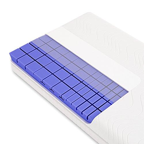Schlummerparadies 3D 7-Zonen Würfelschnitt HR-Kaltschaummatratze ca. 19cm Gesamthöhe, RG50, geprüfter Kern + Bezug (TÜV Rheinland, LGA) - LUXUSLINE Matratze (90x200 cm, h2)