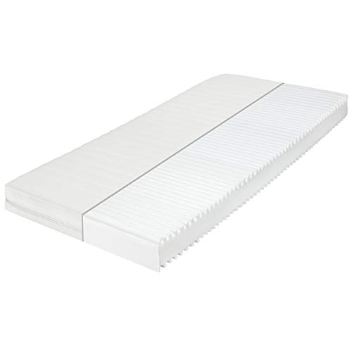 SleepPur White Orthopädische 7-Zonen Kaltschaummatratze, Härtegrad H2 H3, Bezug Waschbar, Öko-Tex Zertifiziert, Rollmatratze (140x200 cm)