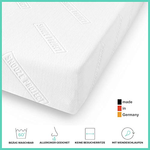 Snooze Project Essential Matratze 150 x 200 - Härtegrad H2 H3 Mittel-Hart - Kaltschaum RG 30 Schaumstoff - Allergiker-geeignet und Öko-Tex 100 zertifiziert - 100 Tage Probeschlafen