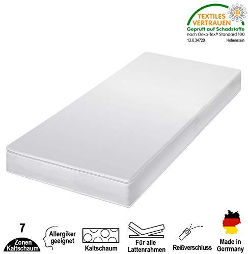 cpt hydrovital 7 Zonen Premium Kaltschaummatratze - Matratze Härtegrad 2in1 H2 & H3 - Rollmatratze (140 x 200 x 12 cm, H3)