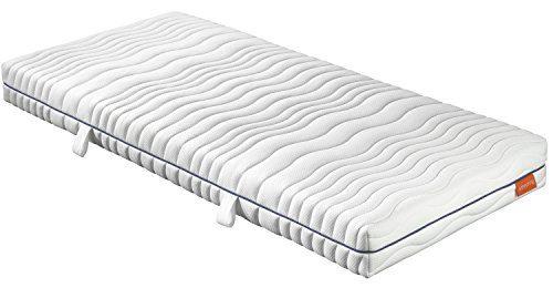 sleepling 190149 Matratze Comfort 120 Kaltschaum Härtegrad 2 90 x 200 cm, Weiß