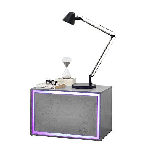 [en.casa] LED Nachttisch Größen - Nachtschrank Nachtkommode Kommode Ablage RGB